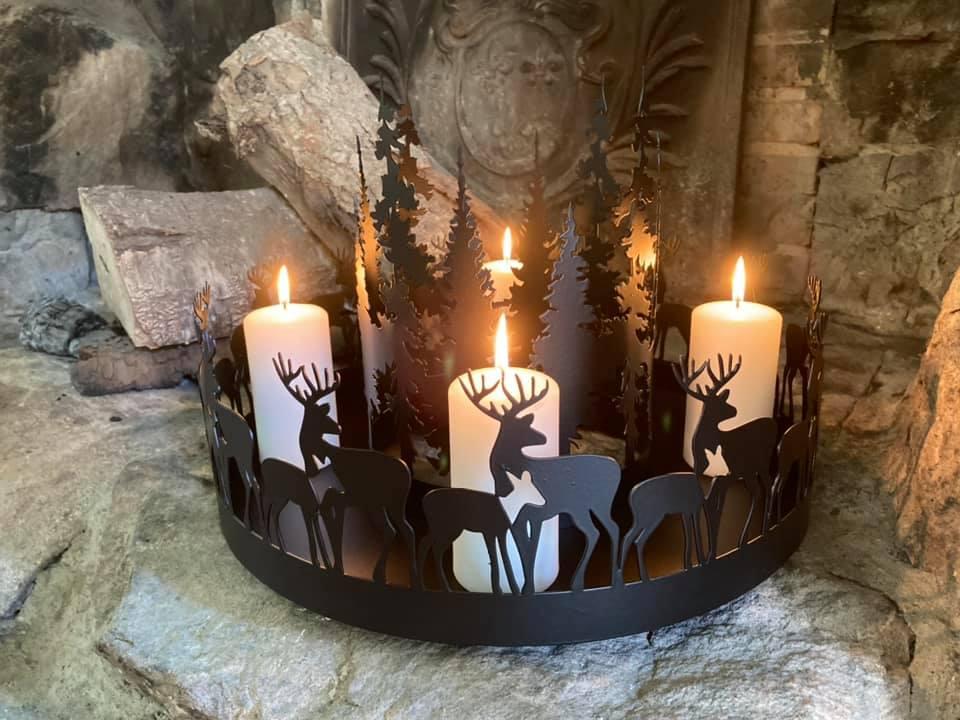 Adventskrans Hjorte i skov