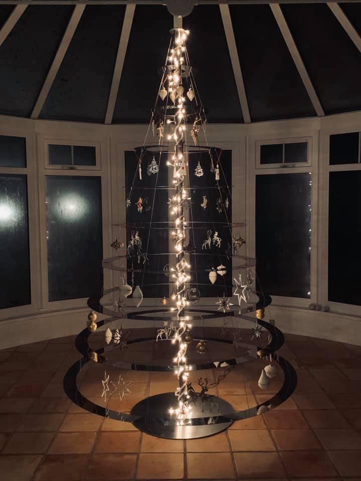 Juletræ poleret stål