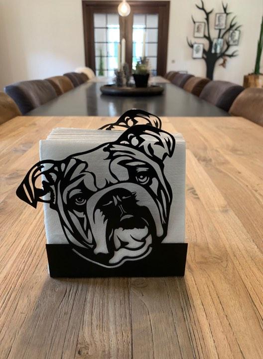 Servietholder Engelsk bulldog