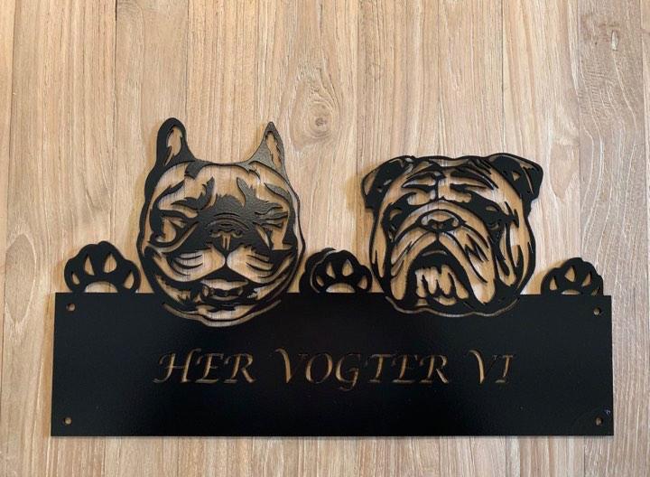 Her vogter vi Fransk bulldog & engelsk bulldog
