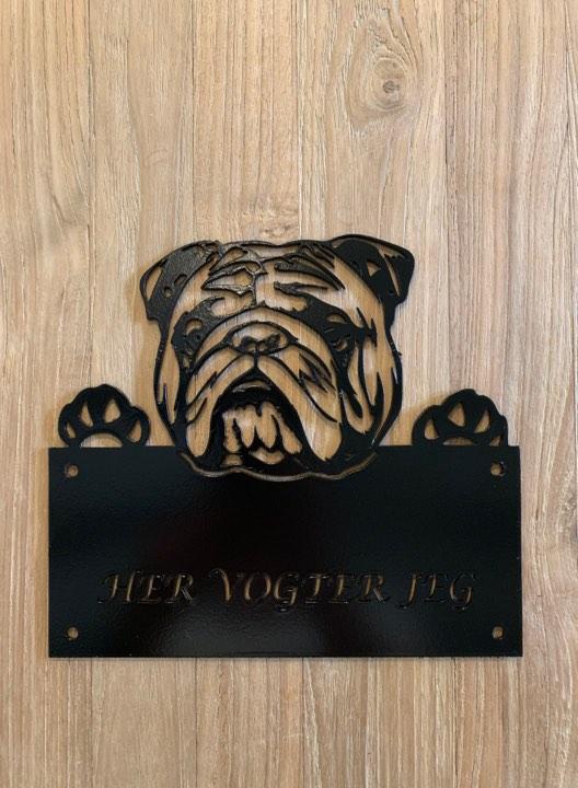 Her vogter Engelsk bulldog
